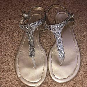 BANDOLINO SPARKLY silver  sandal ✨ 10